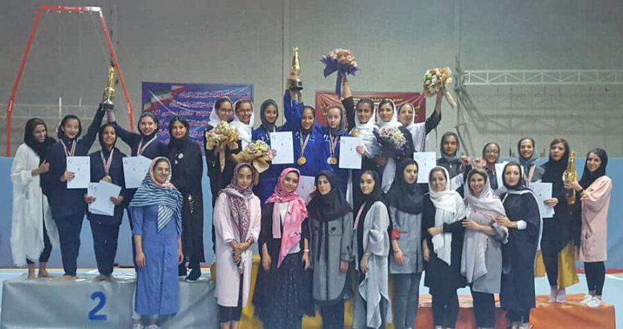تیم تهران قهرمان مسابقات ژیمناستیک ریتمیک لیگ باشگاه های کشور شد