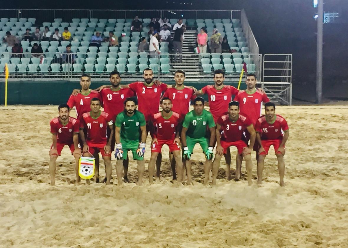 پیروزی تیم ملی فوتبال ساحلی ایران در دیدار تدارکاتی