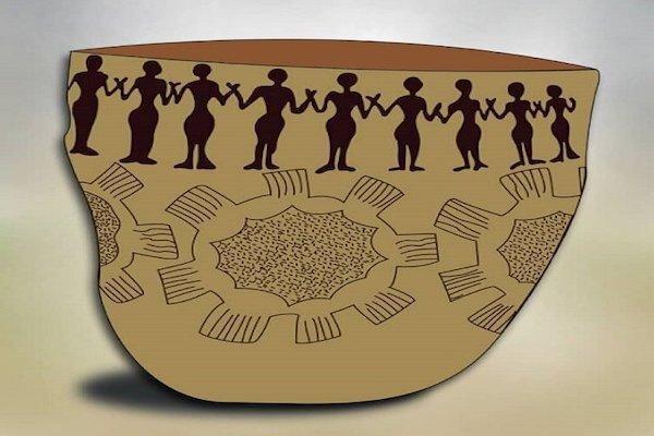 شباهت تخیلی سفالینه هفت هزار ساله با کرونا